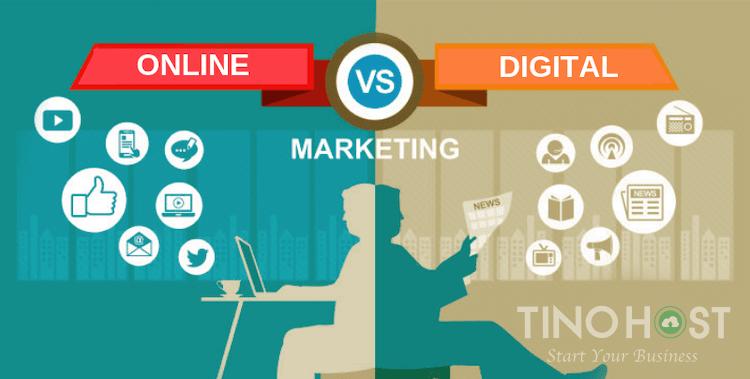 So sánh Digital Marketing và Online Marketing giống và khác nhau như thế nào?