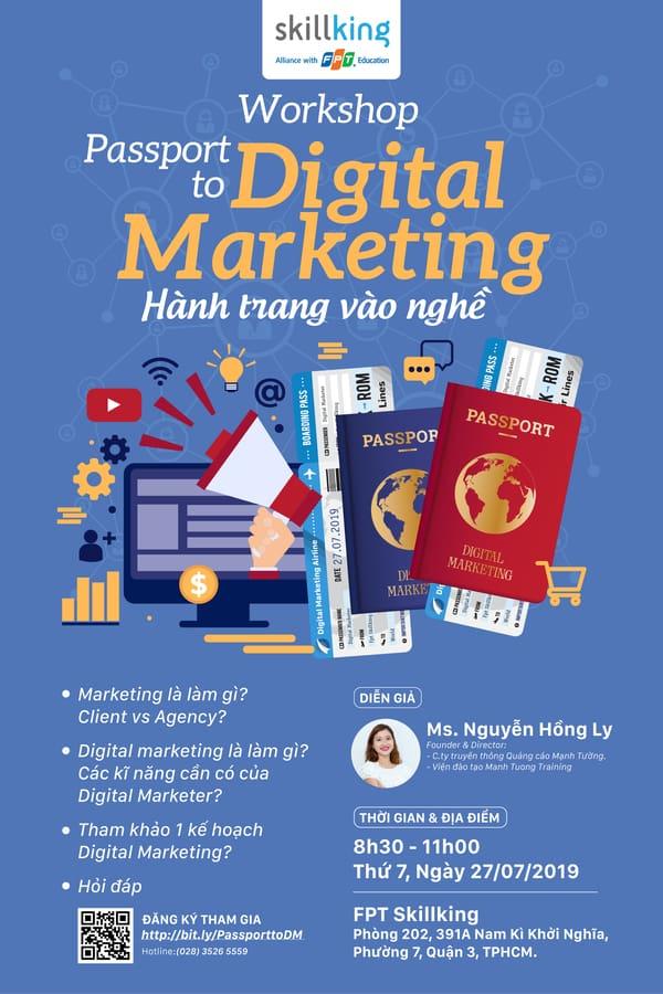 Workshop: Passport To Digital Marketing - Hành Trang Vào Nghề