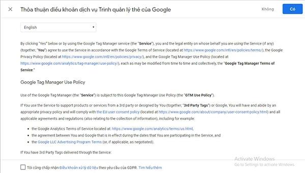 Cách cài đặt Google Tag Manager