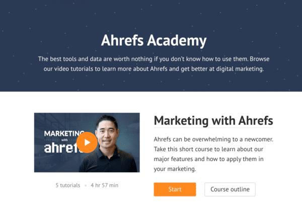 Ahrefs đào tạo SEO Online miễn phí